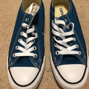 Teal Blue Converse size 7